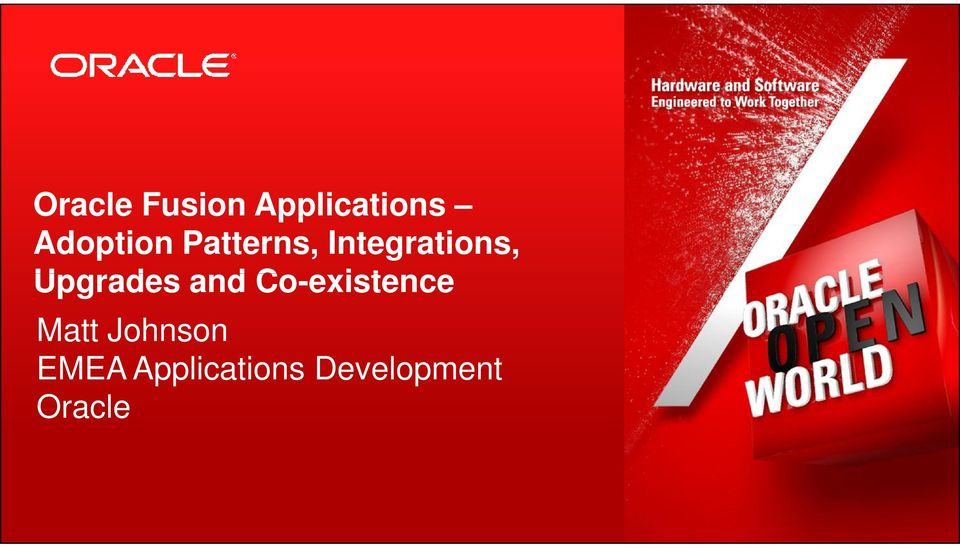 Johnson EMEA Applications Development Oracle 2