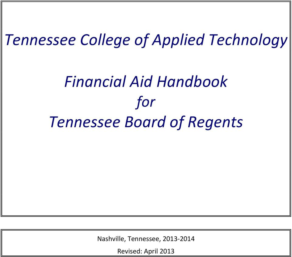 for Tennessee Board of Regents