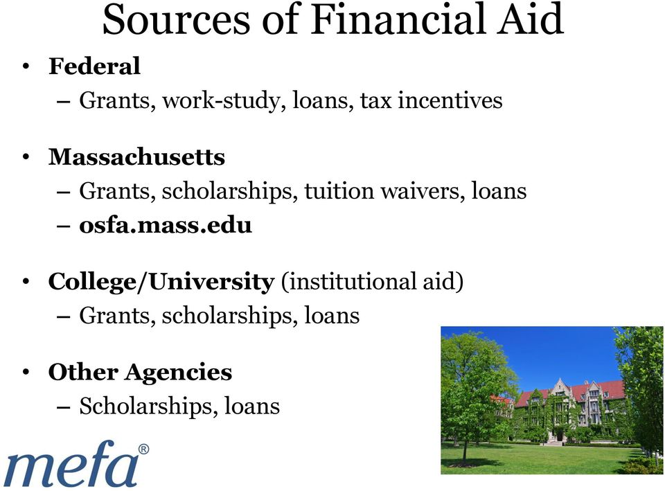 waivers, loans osfa.mass.