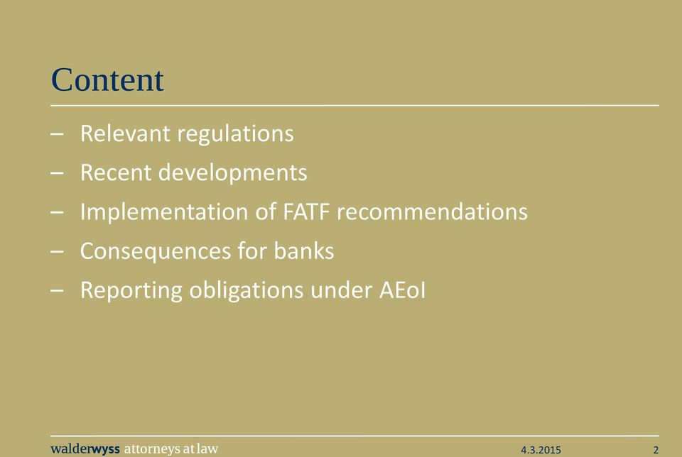 recommendations Consequences for