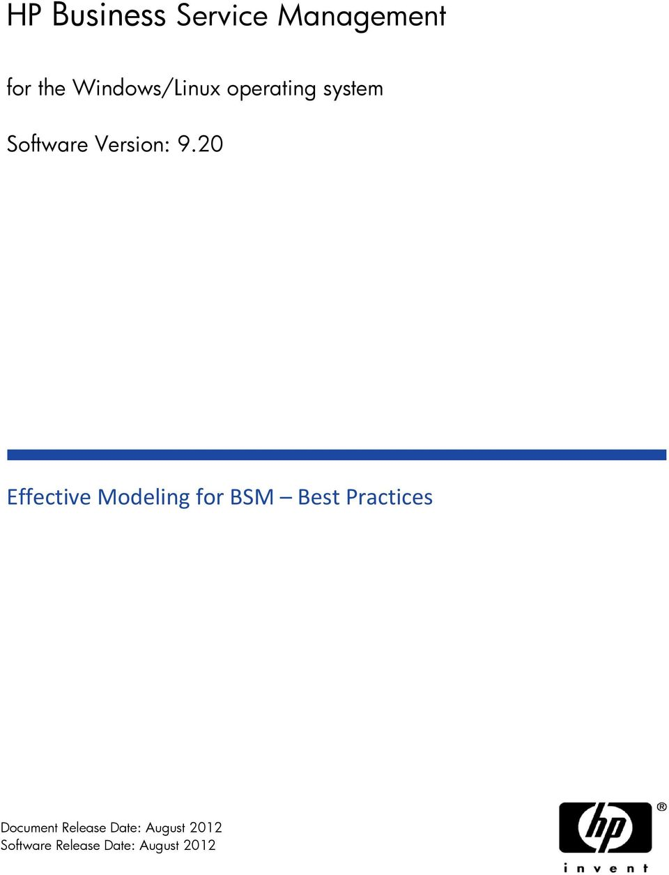 20 Effective Modeling for BSM Best Practices