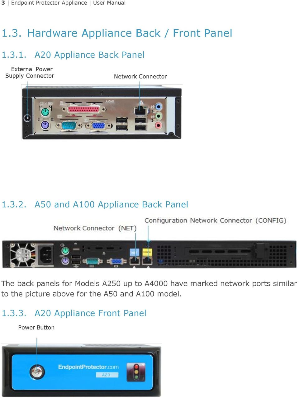 Appliance Back Panel 1.3.2.