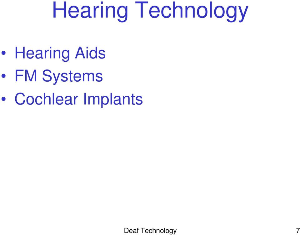 Systems Cochlear