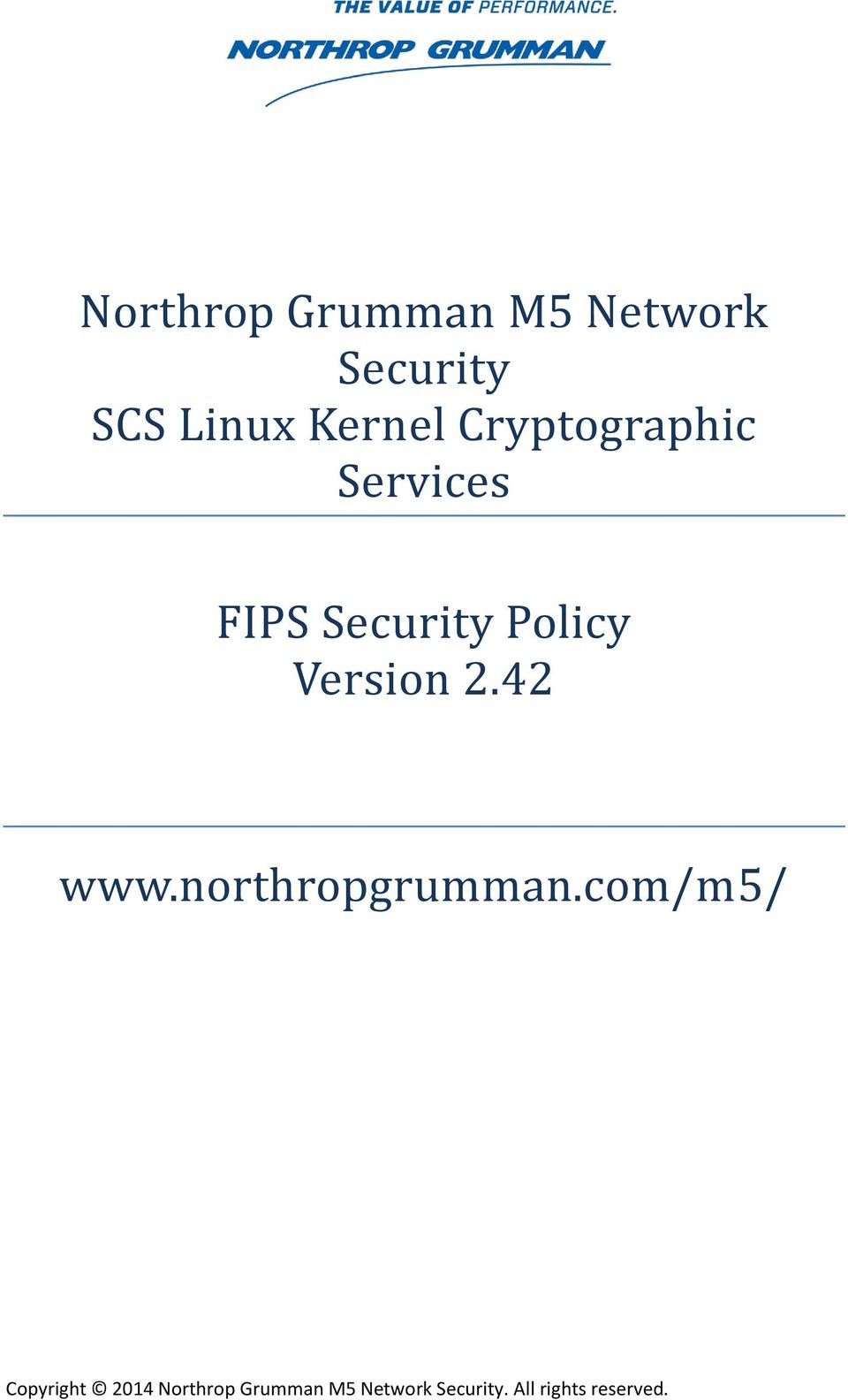 Cryptographic Services FIPS