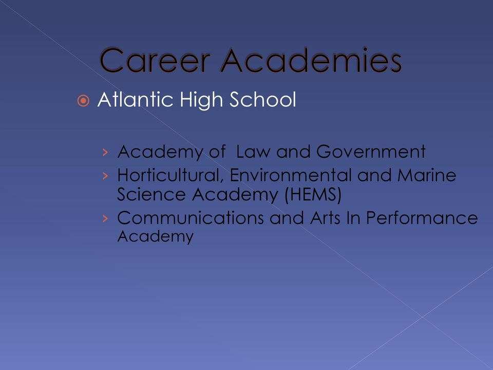 and Marine Science Academy (HEMS)