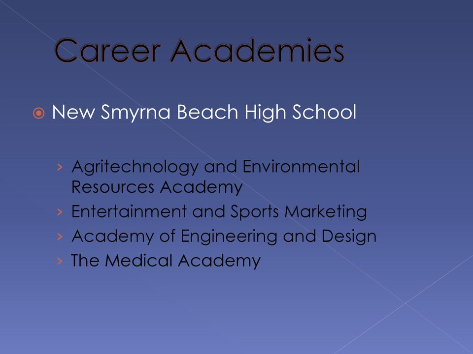 Resources Academy Entertainment and