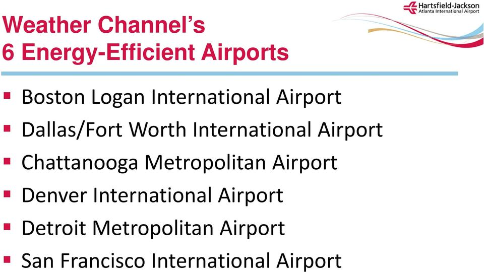 Utility Management & Energy Benchmarking for Airports April