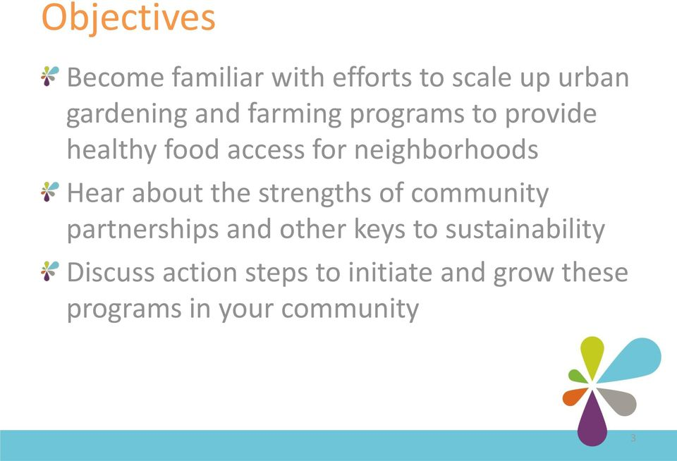 about the strengths of community partnerships and other keys to