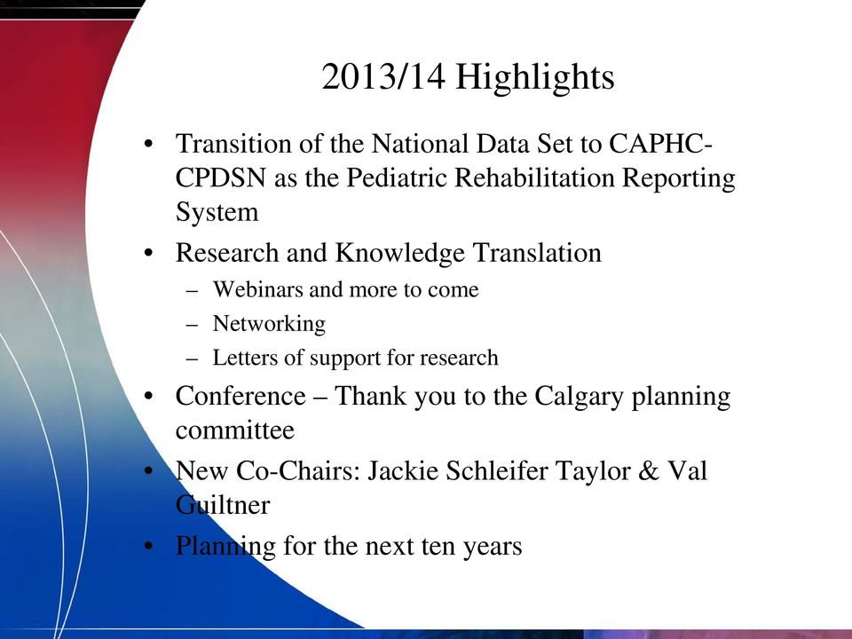 come Networking Letters of support for research Conference Thank you to the Calgary