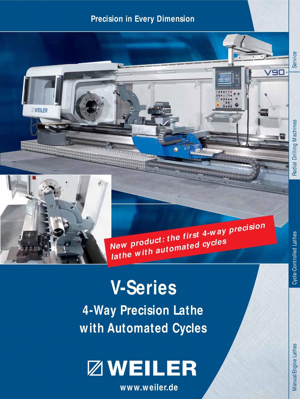 Precision Lathe with Automated Cycles www.weiler.