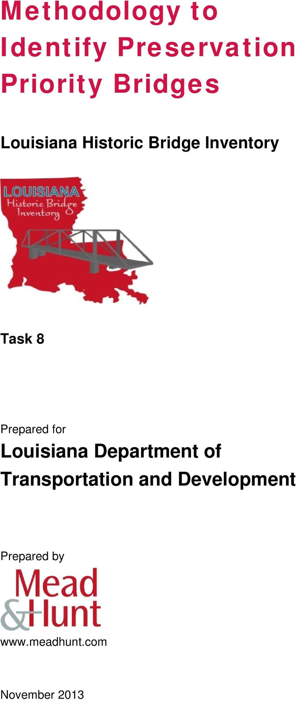 Prepared for Louisiana Department of Transportation