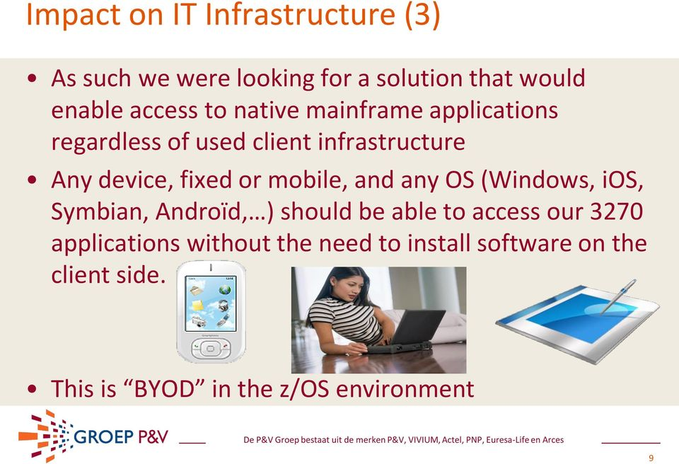 mobile, and any OS (Windows, ios, Symbian, Androïd, ) should be able to access our 3270