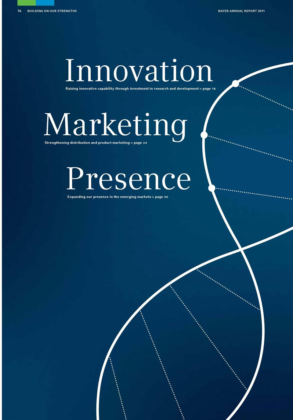development > page 18 Marketing Strengthening distribution and product