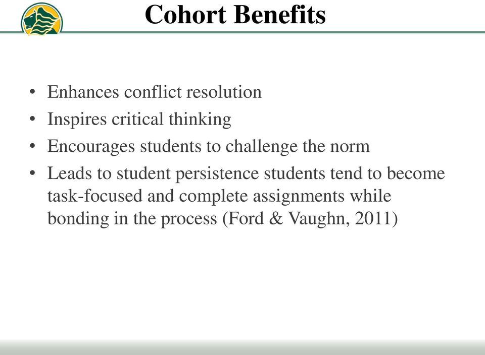 student persistence students tend to become task-focused and
