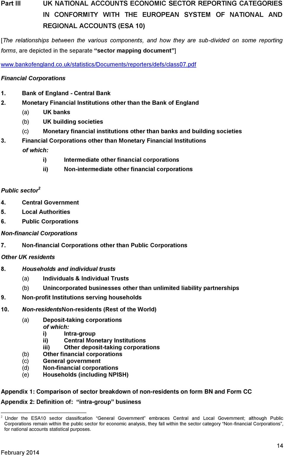 pdf Financial Corporations 1. Bank of England - Central Bank 2.