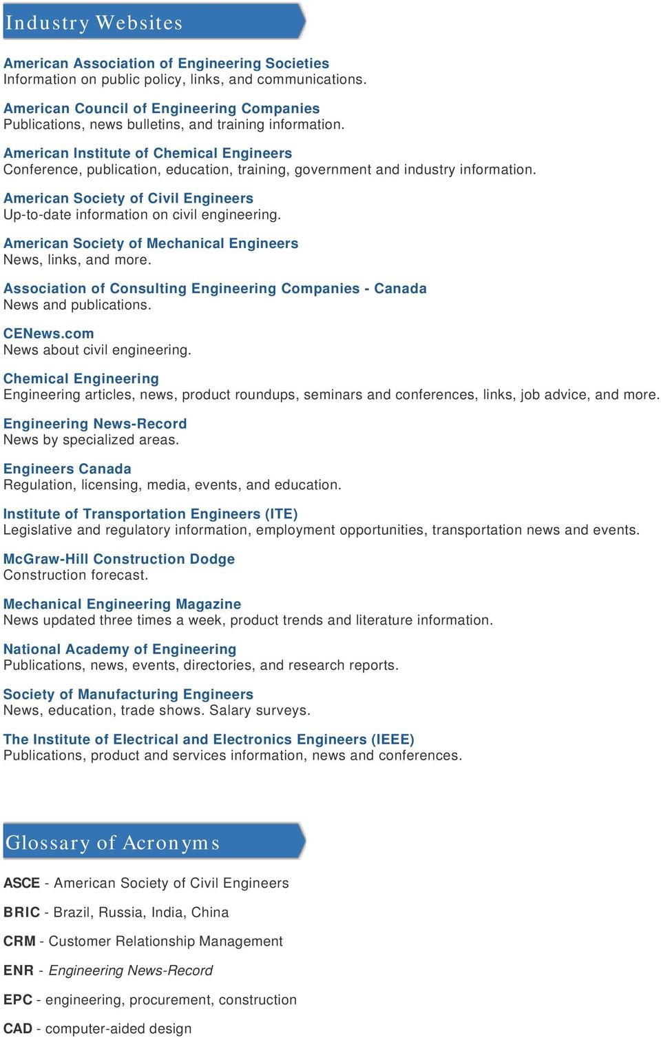 American Institute of Chemical Engineers Conference, publication, education, training, government and industry information.