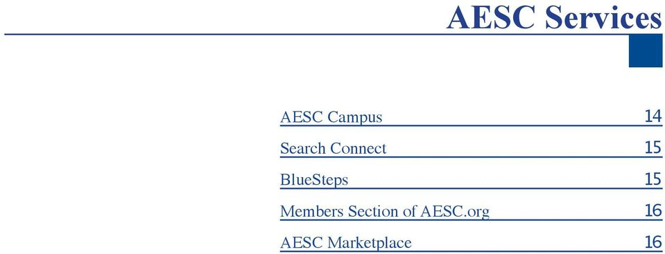 Members Section of AESC.