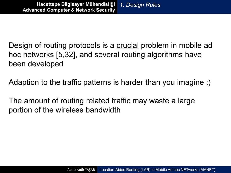 Adaption to the traffic patterns is harder than you imagine :) The amount