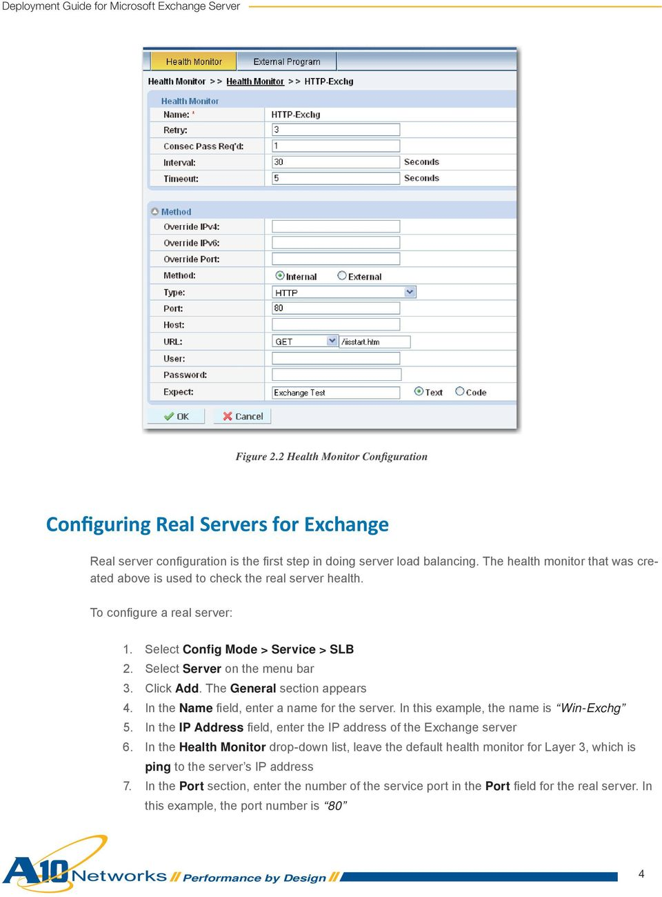 The General section appears 4. In the Name fi eld, enter a name for the server. In this example, the name is Win-Exchg 5. In the IP Address fi eld, enter the IP address of the Exchange server 6.