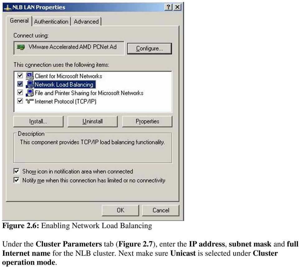 Parameters tab (7), enter the IP address, subnet mask and