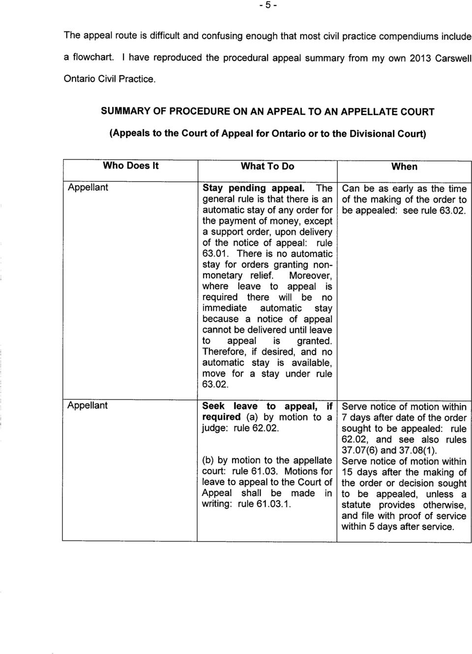 for orders granting non- stay a notice of appeal because be delivered until leave cannot appeal is granted.
