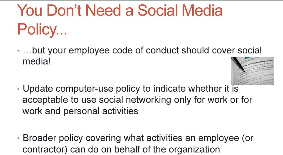 Update computer-use policy to indicate whether it is acceptable to use social