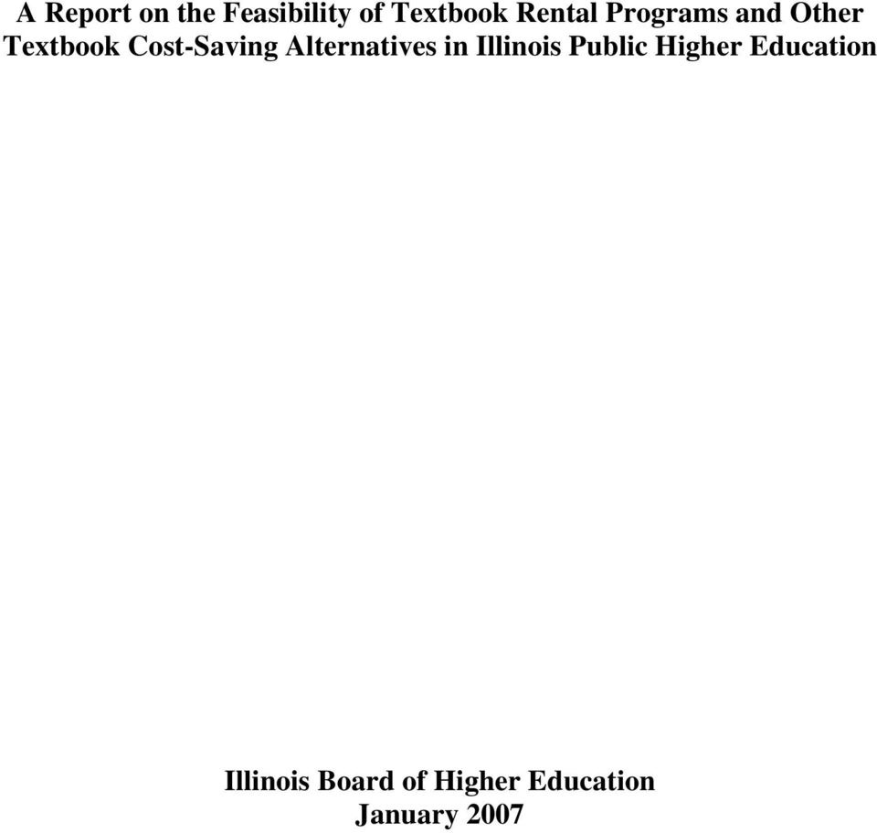 Cost-Saving Alternatives in Illinois Public