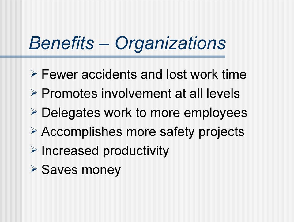 Delegates work to more employees Accomplishes