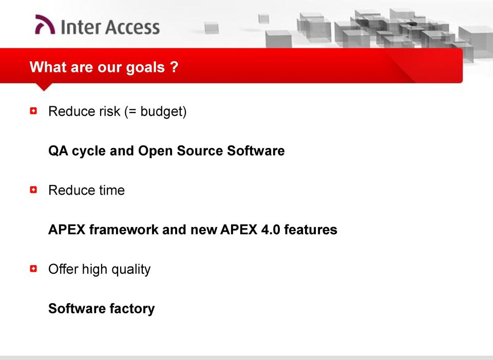 Source Software Reduce time APEX