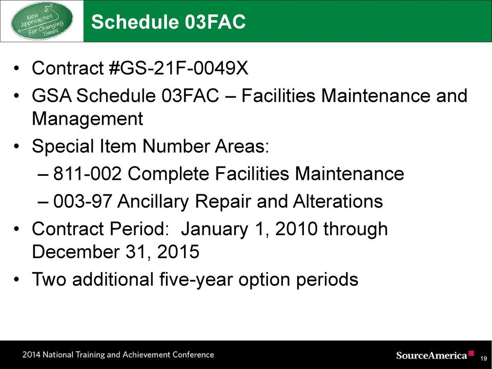 Facilities Maintenance 003-97 Ancillary Repair and Alterations Contract