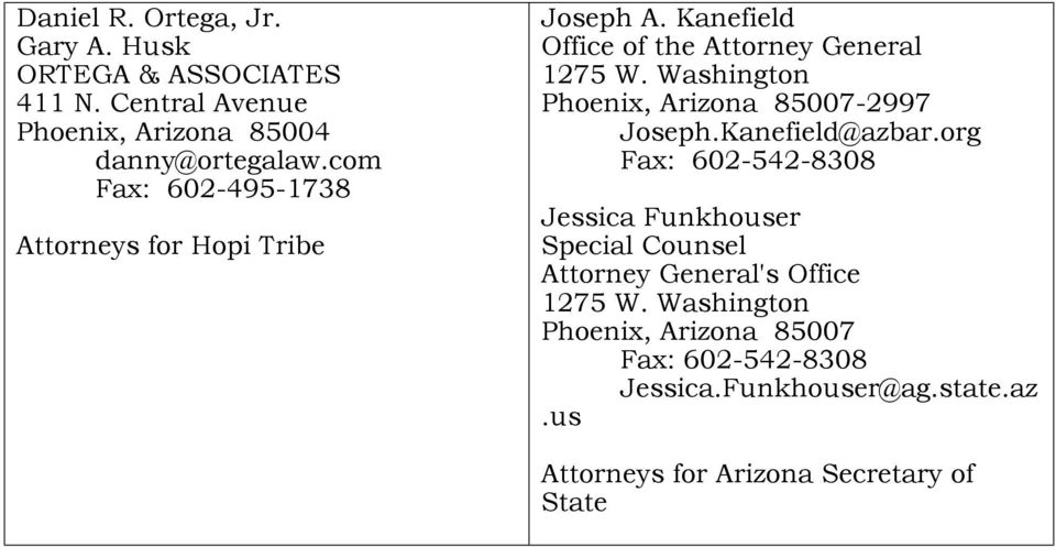 Washington Phoenix, Arizona 85007-2997 Joseph.Kanefield@azbar.