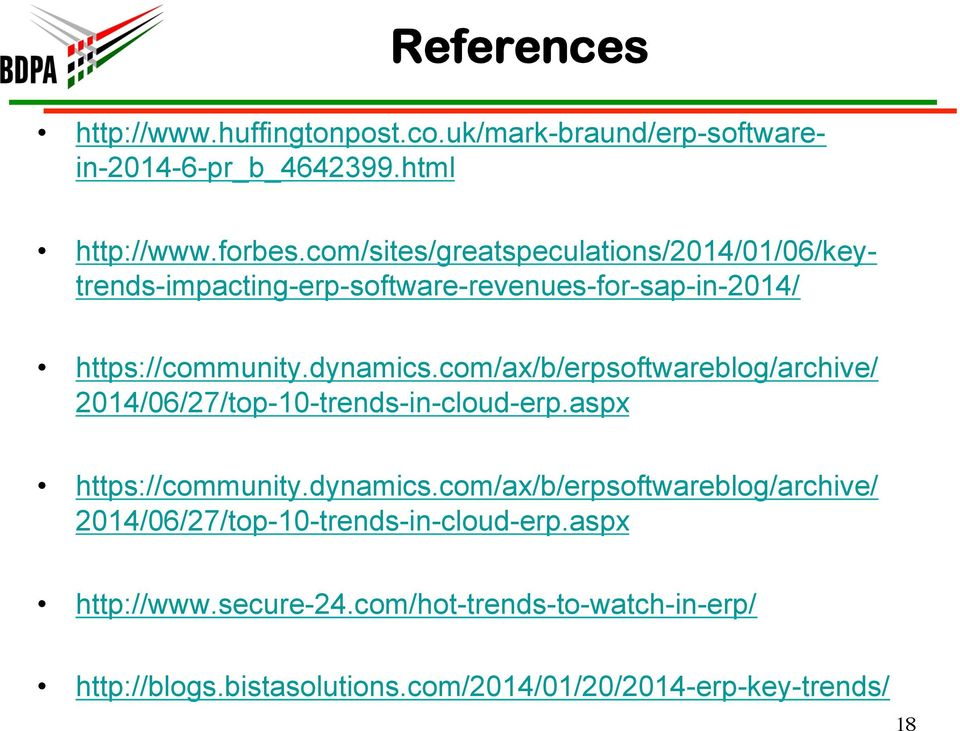 com/ax/b/erpsoftwareblog/archive/ 2014/06/27/top-10-trends-in-cloud-erp.aspx https://community.dynamics.