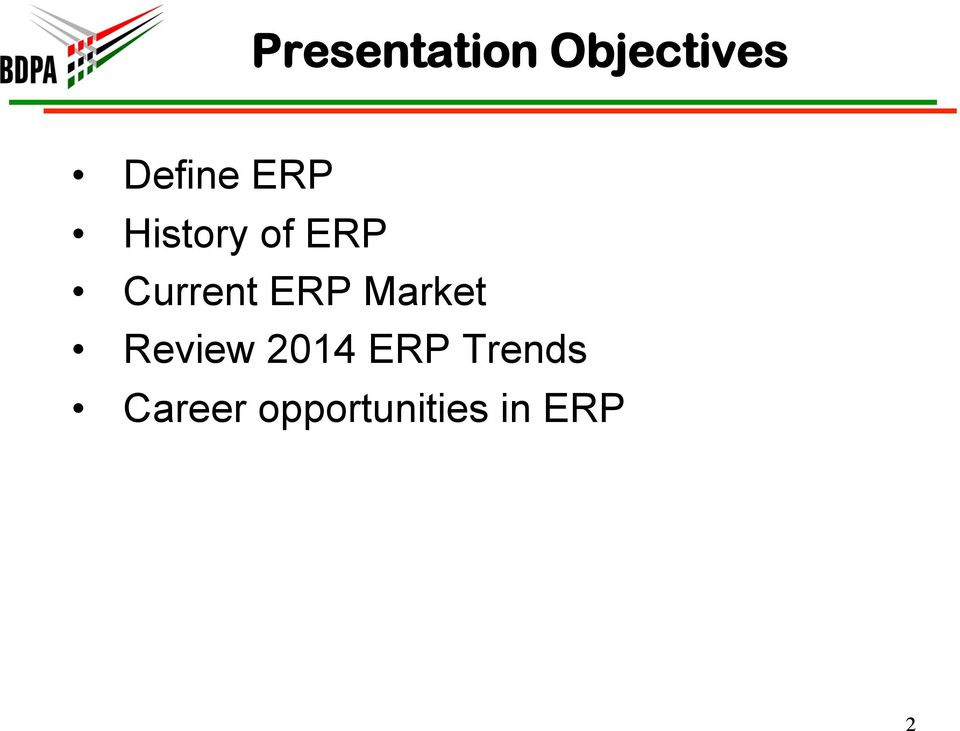 Market Review 2014 ERP Trends