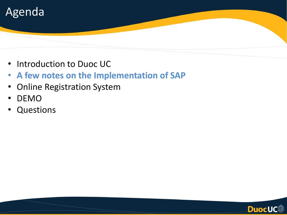 Implementation of SAP Online