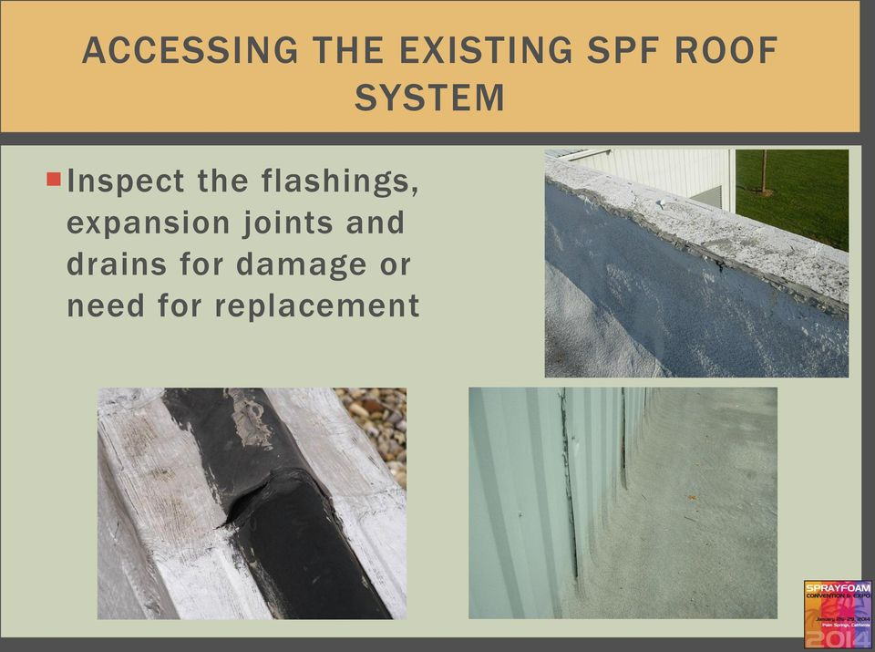 flashings, expansion joints