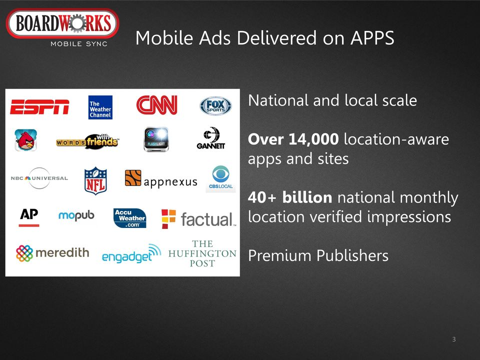 and sites 40+ billion national monthly