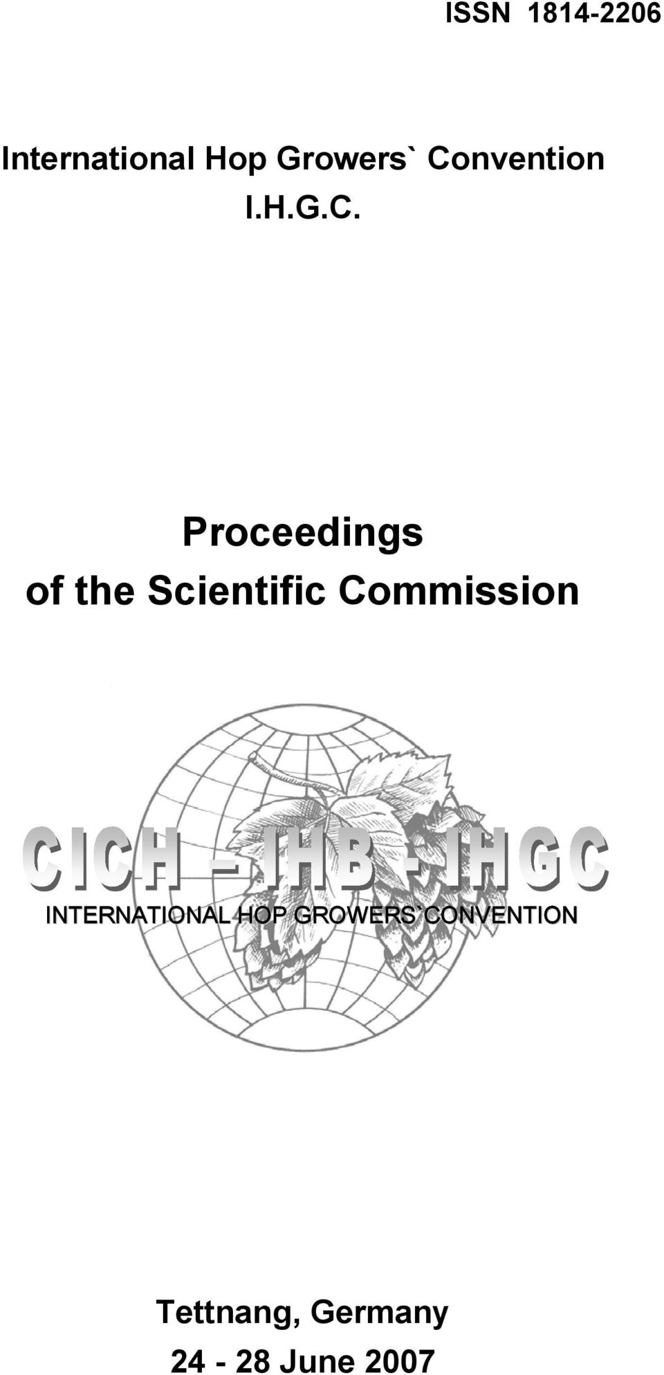 Scientific Commission INTERNATIONAL HOP