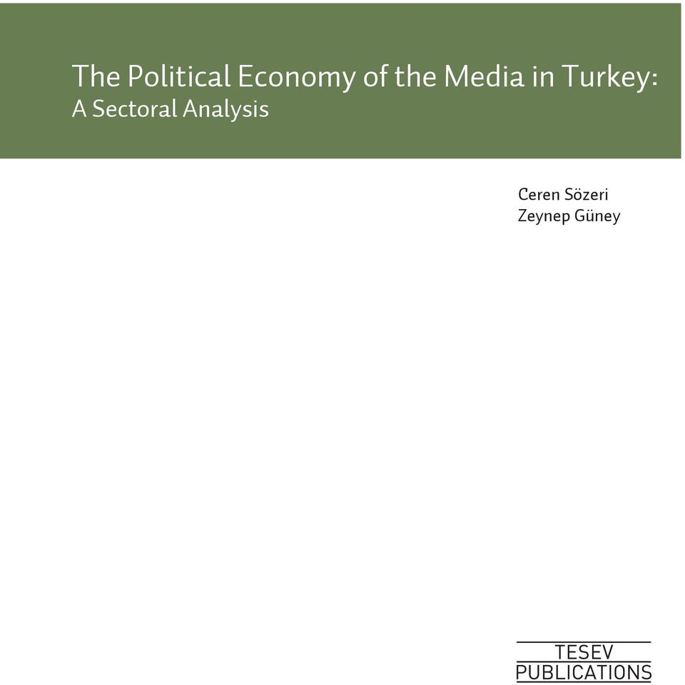Turkey: A Sectoral