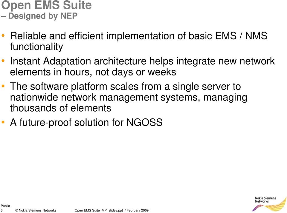 Open EMS Suite  A software development platform for building