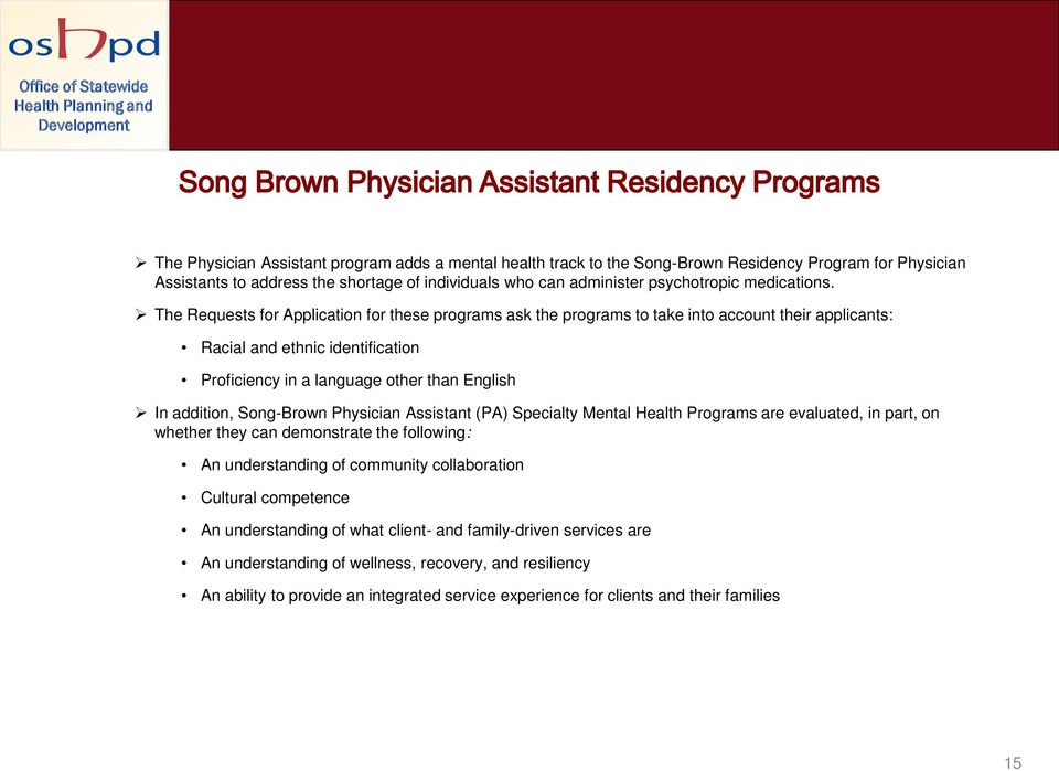 The Requests for Application for these programs ask the programs to take into account their applicants: Racial and ethnic identification Proficiency in a language other than English In addition,