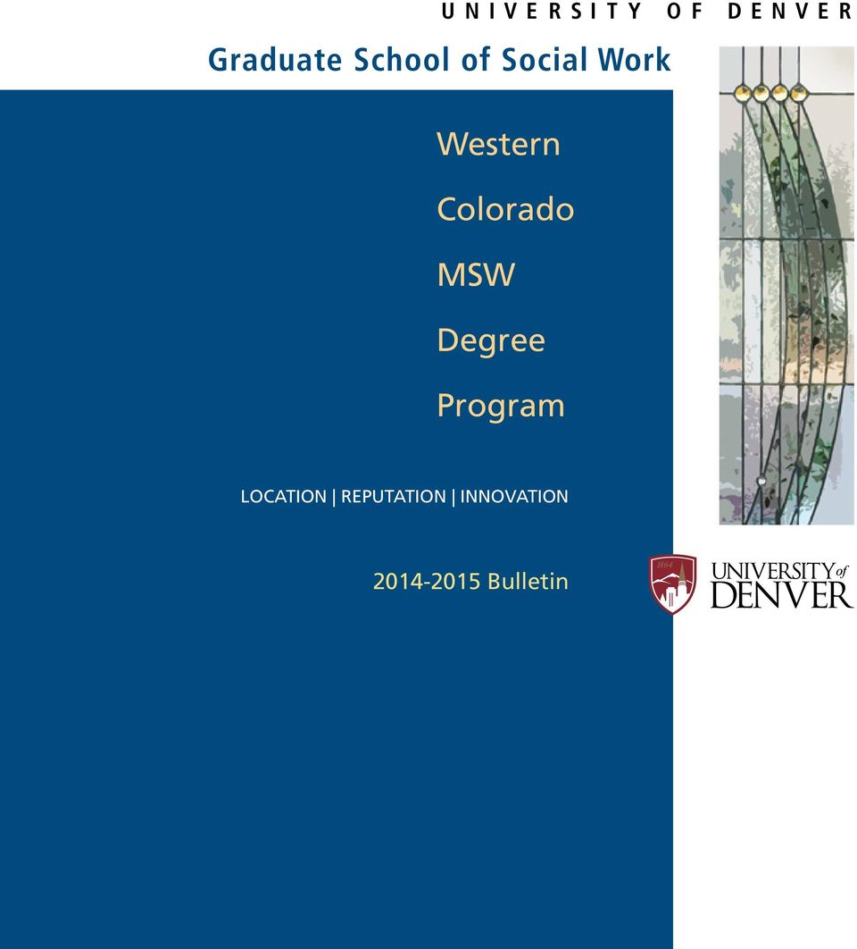 Colorado MSW Degree Program