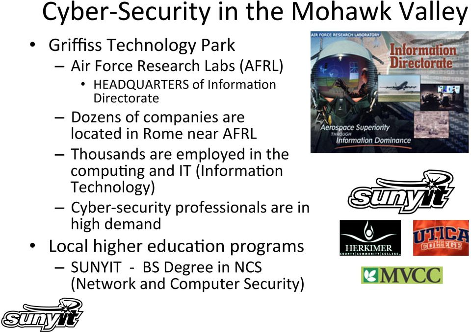 Thousands are employed in the compupng and IT (InformaPon Technology) Cyber- security