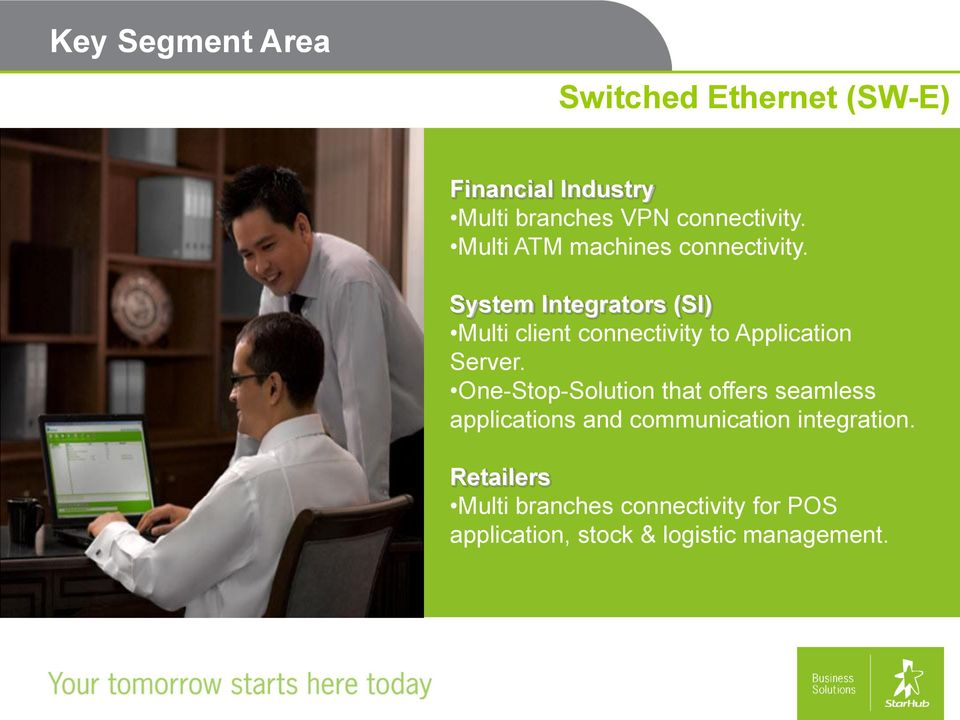 System Integrators (SI) Multi client connectivity to Application Server.