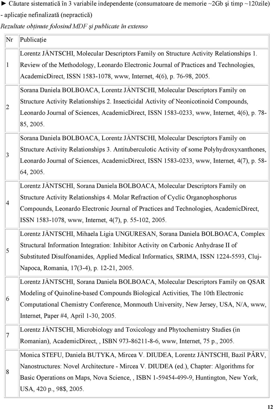 Review of the Methodology, Leonardo Electronic Journal of Practices and Technologies, AcademicDirect, ISSN 1583-1078, www, Internet, 4(6), p. 76-98, 2005.