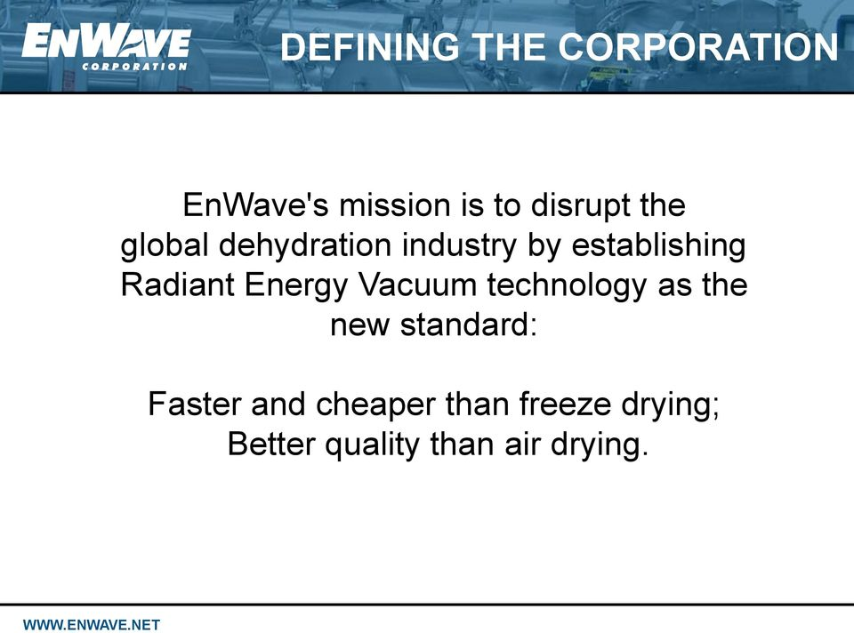 Energy Vacuum technology as the new standard: Faster and