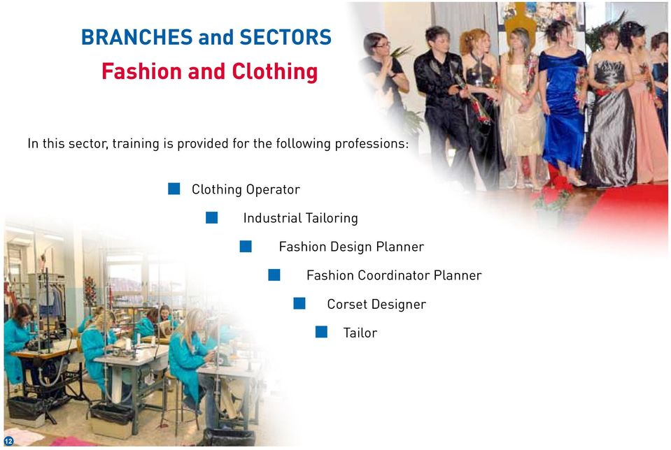professions: Clothing Operator Industrial Tailoring