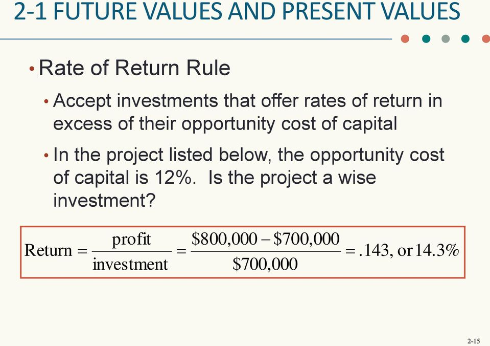 project listed below, the opportunity cost of capital is 12%.