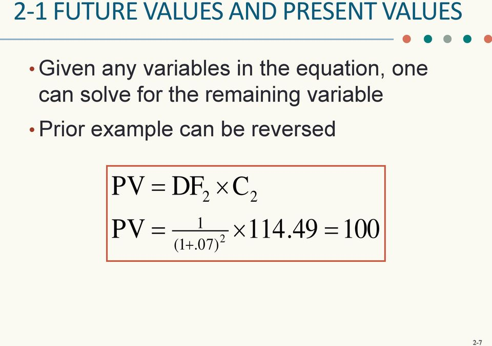 the remaining variable Prior example can be