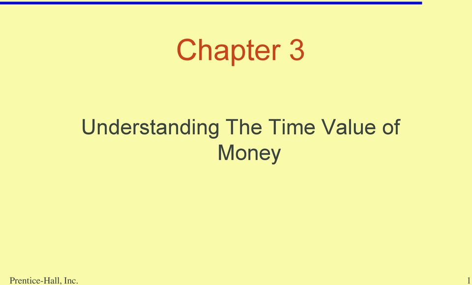 Time Value of