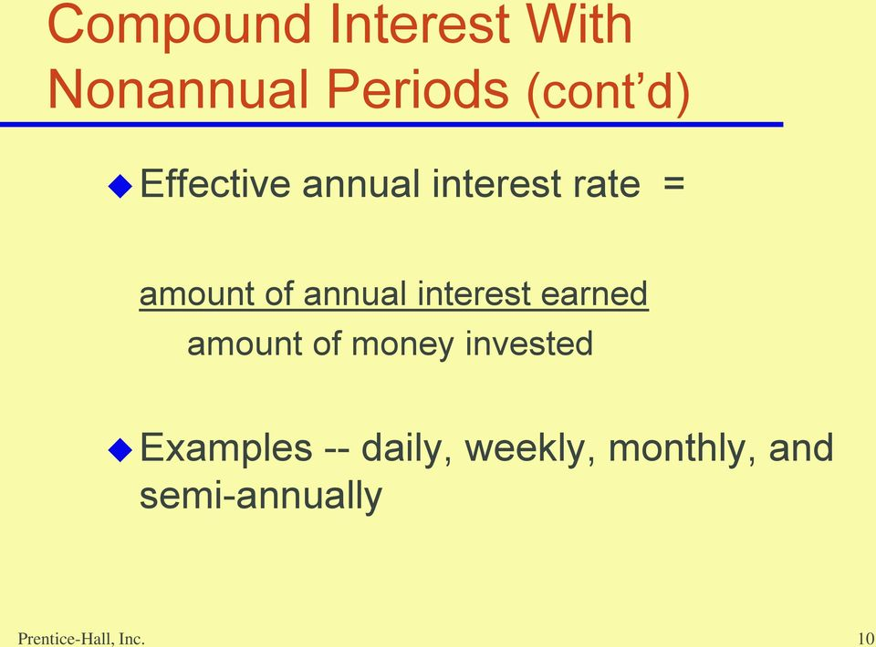 interest earned amount of money invested Examples --